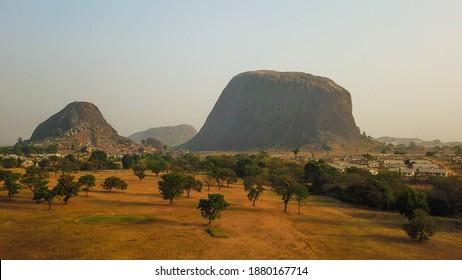 Scenic landscape view of Zuma Rock Niger State Nigeria