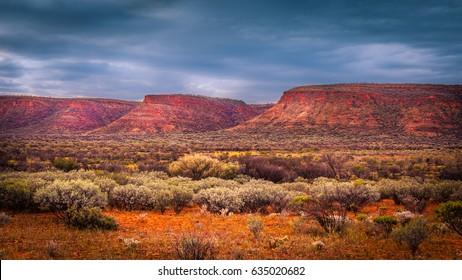 Scenic landscape of the Watarrka National Park, Central Australia, Northern Territory, Australia