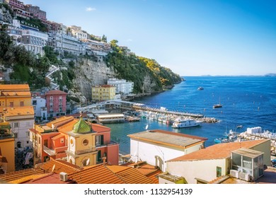 Scenic landscapes of the Gulf of Naples and Sorrento, Italy