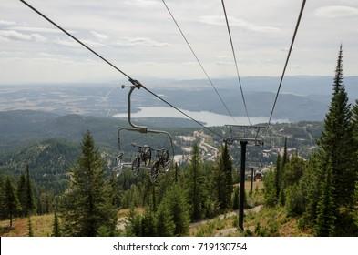 Scenic lift takes bikes up the Whitefish mountain