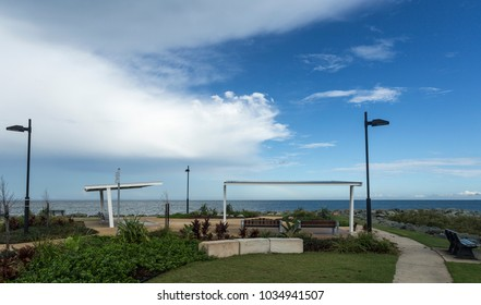 Scenic lookout point located on the northern end of Suttons Beach in the Redcliffe peninsula, Queensland, Australia