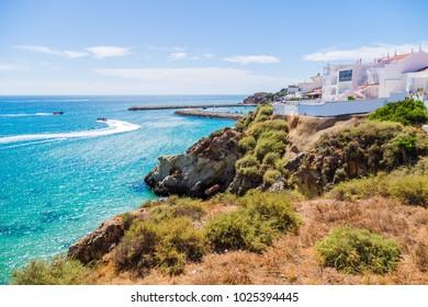 Scenic luxurious sea view at Porto de Abrigo de Albufeira, Albufeira Bay in Albufeira, Portugal