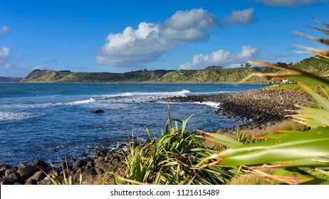 Scenic Manu Bay in Waikato, New Zealand