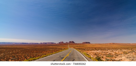 Scenic Monument Valley Landscape on the border between Arizona and Utah in United States America