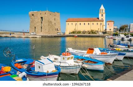 Scenic morning view in Acciaroli harbour. Cilento, Campania, southern Italy.