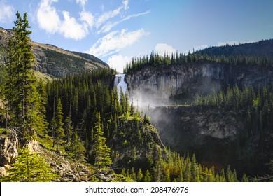 Scenic mountain hiking views, Berg Lake Trail, Mount Robson Provincial Park British Columbia Canada