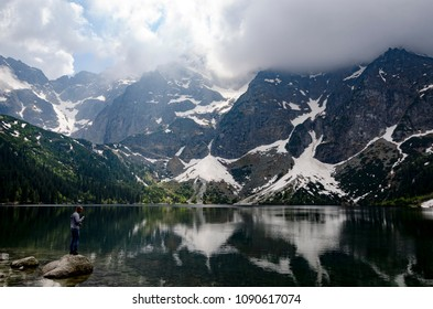 Scenic Mountain and lake