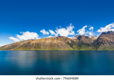 Scenic mountain, lake landscape, glenorchy queenstown, NZ