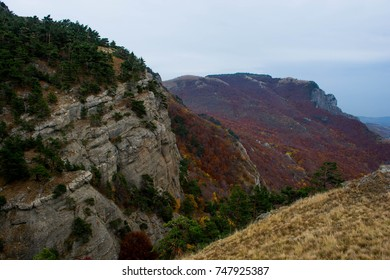 Scenic mountain landscape against the sky