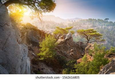 Scenic mountain landscape, Karpathos island,Greece