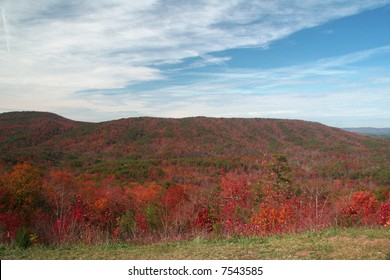 Scenic mountain landscape located in Cheaha State Park in Alabama.