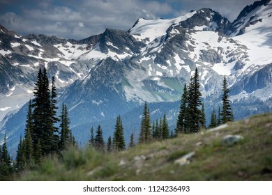 Scenic mountain landscape in Whistler BC, Vancouver, Canada