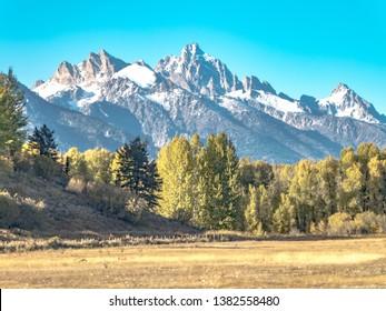 Scenic mountain view near Victor Idaho