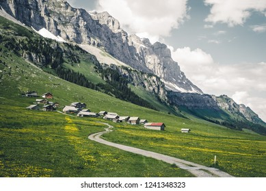 Scenic mountain view of the Swiss Alps