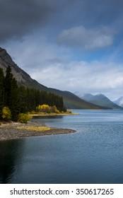 Scenic mountain views of Kananaskis Country Alberta Canada in summer
