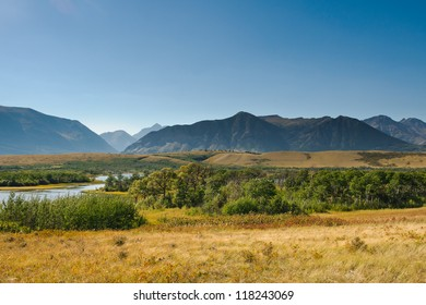 Scenic Mountain Views, Waterton National Park Alberta Canada