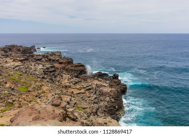 Scenic Nakalele Blowhole on the Maui Coast