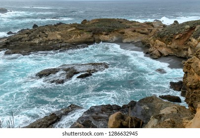 Scenic ocean view of Point Lobos State Reserve near Monterey, California, along the Pacific Coast Highway