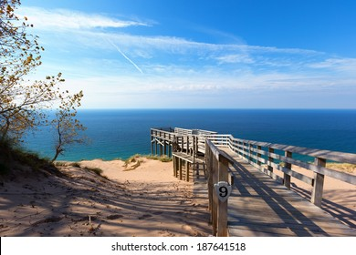 Scenic Overlook #9 at Sleeping Bear Dunes National Lakeshore. This overlook offers a stunning vista of Lake Michigan