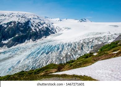 Scenic Overlook of Exit Glacier in Alaska
