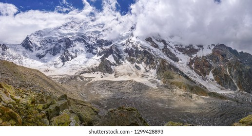 Scenic panorama of majestic Nanga Parbat mountain in Himalayas in Pakistan.