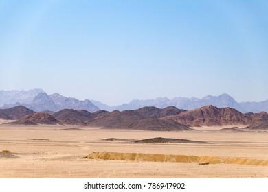 Scenic Panorama in the Sahara