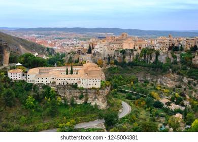 Scenic panoramic landscape of Cuenca city in Spain