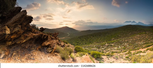 Scenic panoramic photo over the Breedevalley region in the Western Cape of south africa