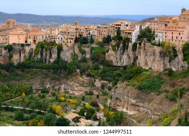 Scenic panoramic view of Cuenca Old town in Spain