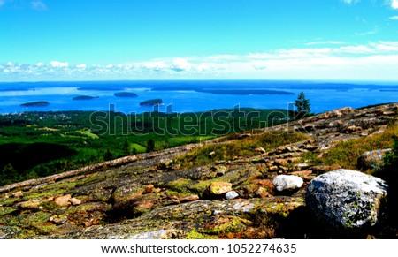 scenic panoramic views north ridge trail stock photo (edit now