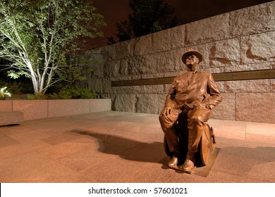 Scenic Photo from Washington DC.  Franklin Delano Roosevelt Memorial taken at night.
