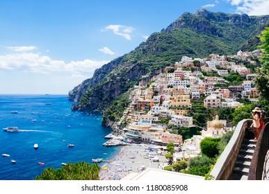 Scenic Positano, Amalfi Coast, Southern Italy