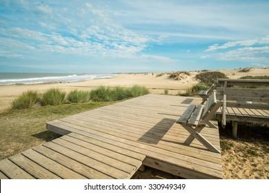 Scenic Punta del Diablo beach in eastern Uruguay