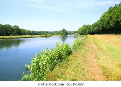 Scenic Reserve de Naturelle de Bois du Parc in the Yonne Valley, Burgundy, France