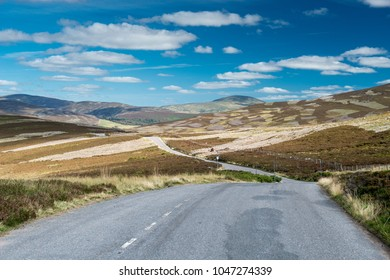 Scenic road, of the beautiful nature of Cairngorms National Park