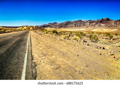 scenic road in death valley National Park, California