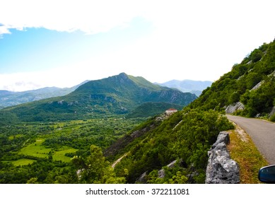 Scenic road in the mountains of Montenegro