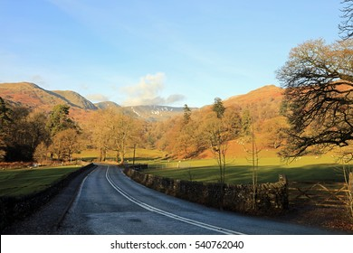 Scenic road through the heart of the Lake District, Cumbria, England, UK