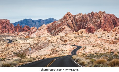 Scenic roads at Valley of Fire.