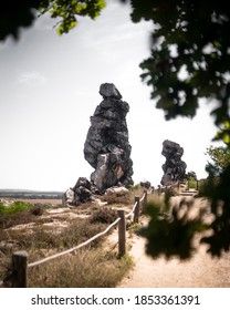 """Scenic Rockformation """"Teuefelsmauer"""" in Germany"""
