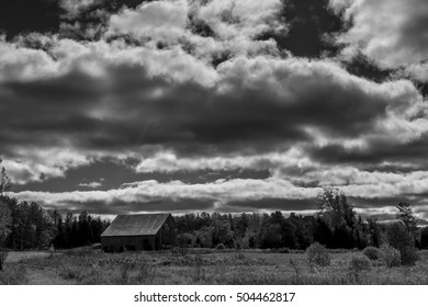 Scenic Rural Landscape in Bright Day with beautiful clouds