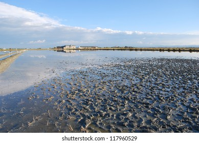 Scenic salt pan, Cervia, Ravenna, Italy