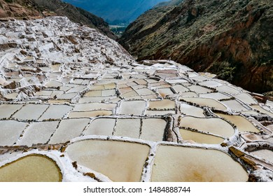 scenic Salt Salinas de Maras in Cusco, Peru