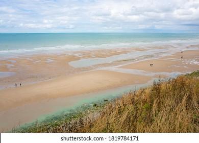 Scenic seaside at Cap Blanc-Nez, Atlantic ocean, France