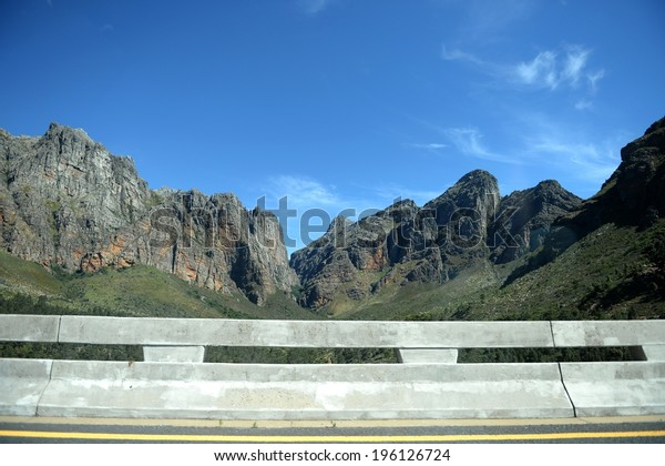 A scenic shot of the Montagu mountain ranges