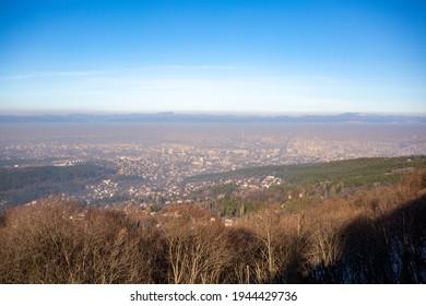 A scenic shot of the Sofia city from Kamen Del peak, Bulgaria - Shutterstock ID 1944429736