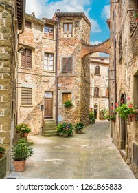 Scenic sight in Anghiari, in the Province of Arezzo, Tuscany, Italy.