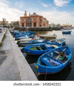 Scenic sight in Bari with the old harbour and Margherita Theatre, Puglia (Apulia), southern Italy.