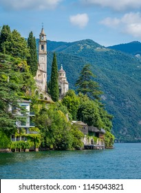 Scenic sight in Brienno, on the Como Lake, Lombardy, Italy.