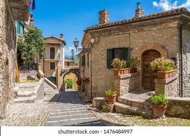 Scenic sight in Casperia, beautiful village in Rieti Province, Lazio, Italy.